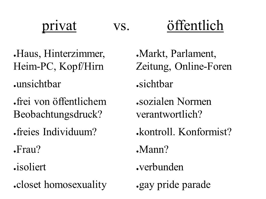 privat vs.