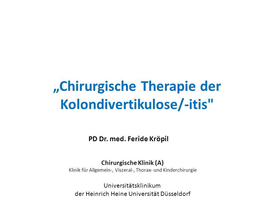 """""""Chirurgische Therapie der Kolondivertikulose/-itis"""