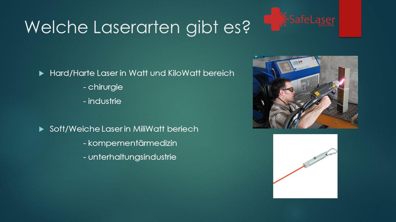 Welche Laserarten gibt es.