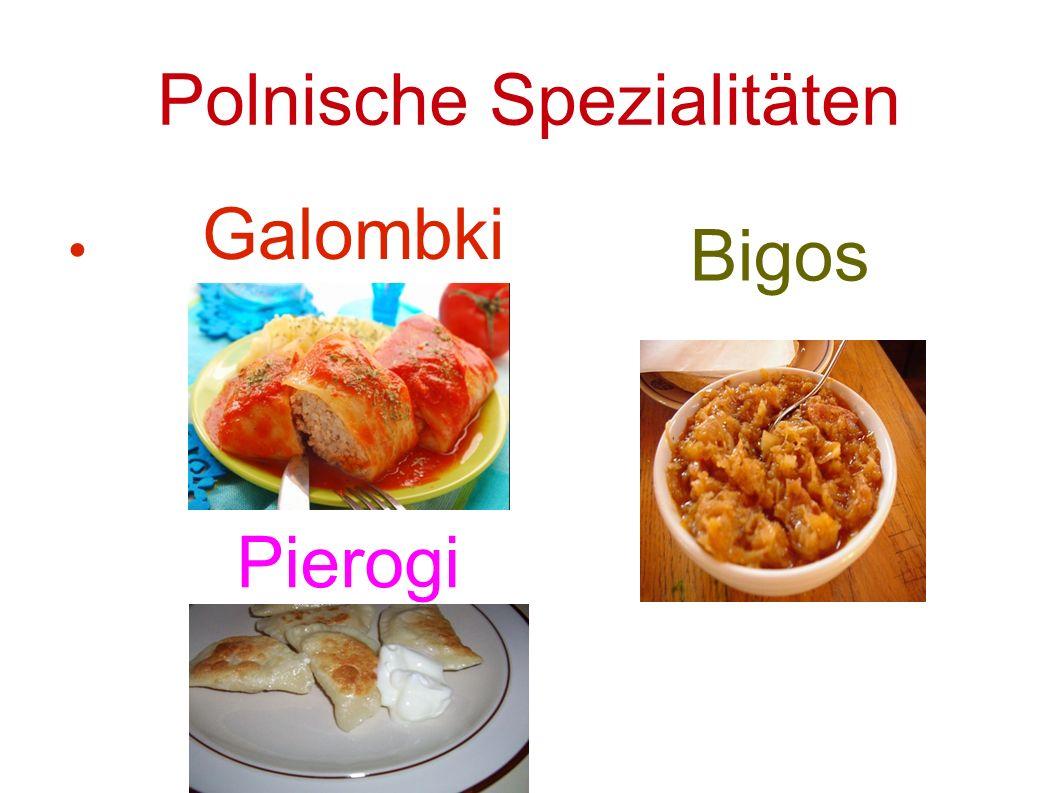 Polnische Spezialitäten ● Galombki Bigos Pierogi