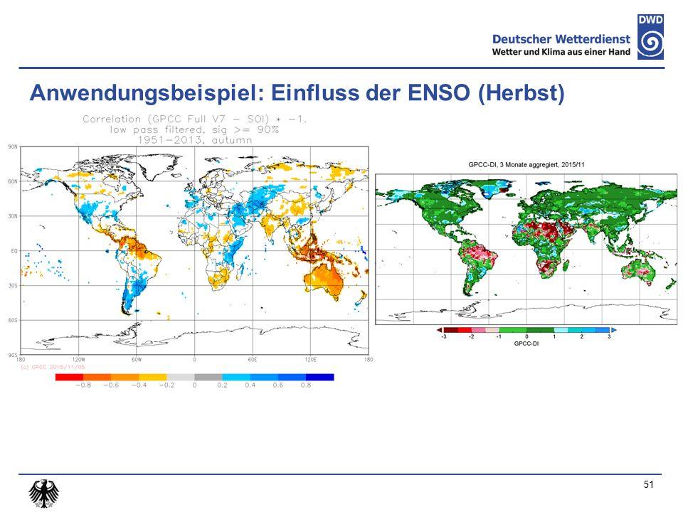 Anwendungsbeispiel: Einfluss der ENSO (Herbst) 51