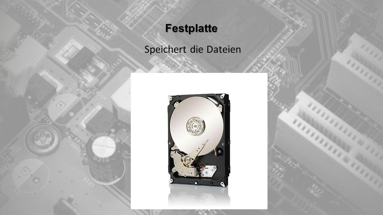 Festplatte Speichert die Dateien