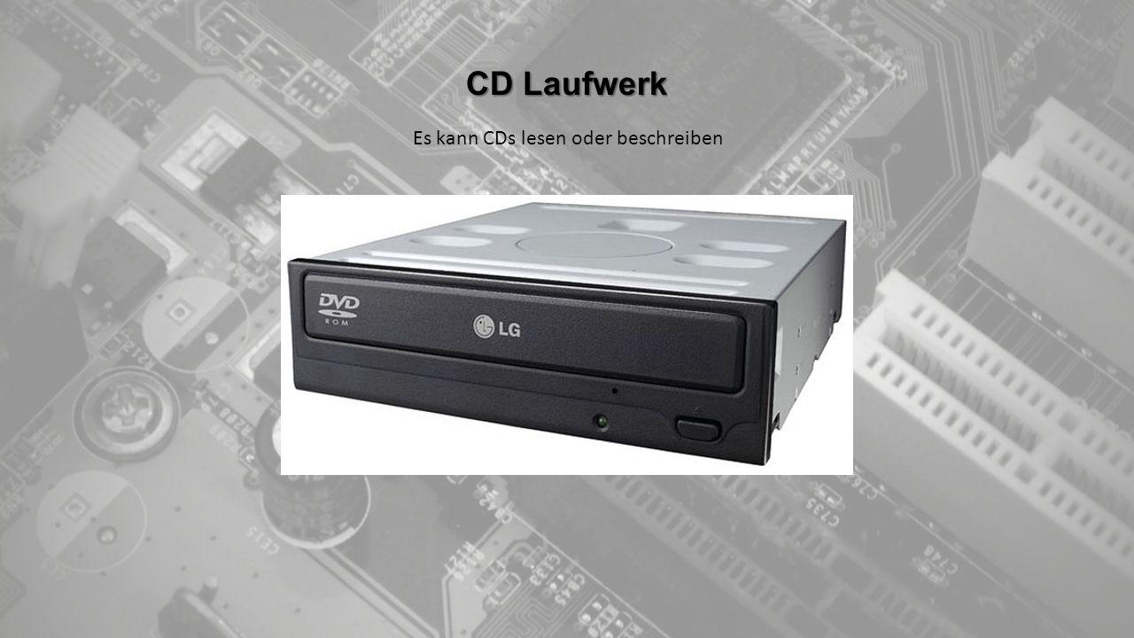 CD Laufwerk Es kann CDs lesen oder beschreiben