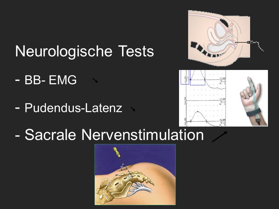 Neurologische Tests - BB- EMG - Pudendus-Latenz - Sacrale Nervenstimulation