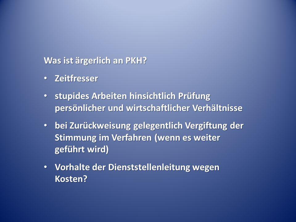 """PKH ohne Beiordnung bei """"einfacher Sache ."""