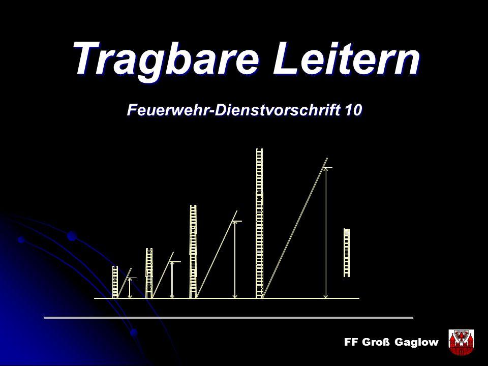 FF Groß Gaglow Tragbare Leitern Feuerwehr-Dienstvorschrift 10