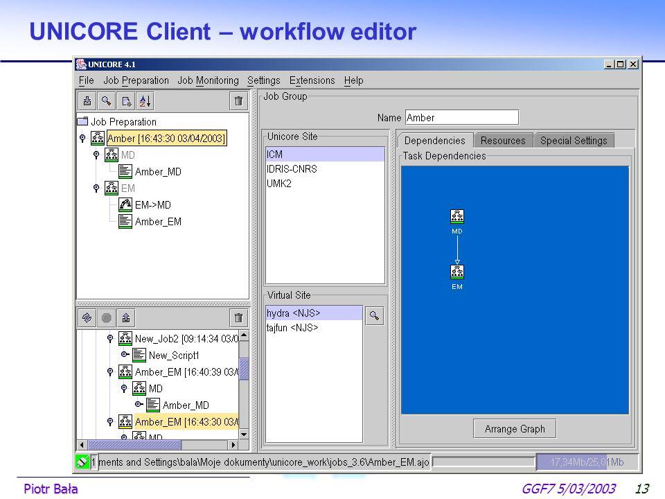  Hier klicken, um Master-Textformat zu bearbeiten.  Zweite Ebene GGF7 5/03/2003Piotr Bała12 UNICORE Client – edit resources for job