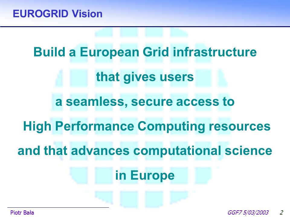 (EUROGRID and GRIP project) Piotr Bała ICM Warsaw University – Warsaw (PL) N.