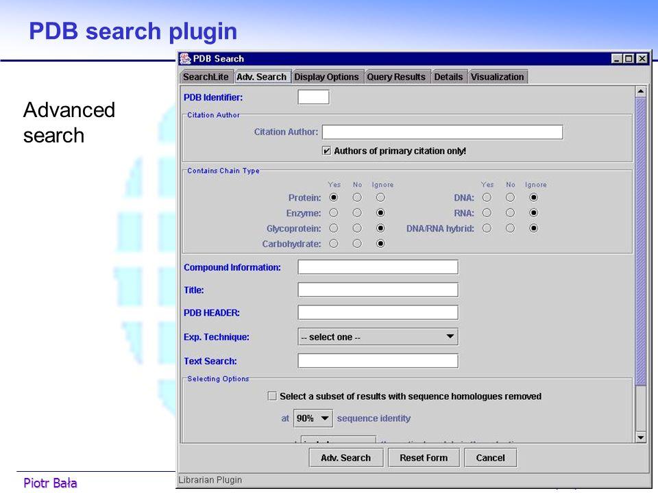  Hier klicken, um Master-Textformat zu bearbeiten.  Zweite Ebene GGF7 5/03/2003Piotr Bała32 PDB search plugin Lite search