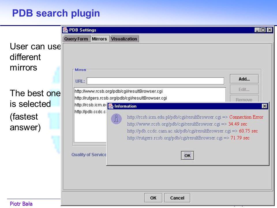  Hier klicken, um Master-Textformat zu bearbeiten.  Zweite Ebene GGF7 5/03/2003Piotr Bała33 PDB search plugin Advanced search