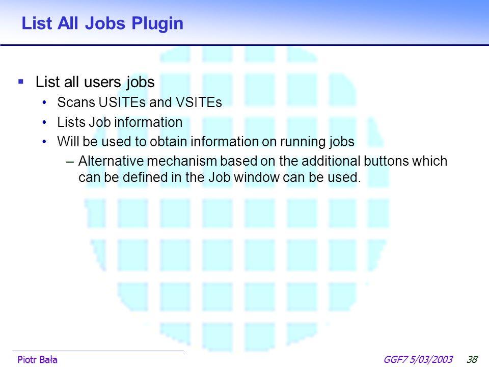  Hier klicken, um Master-Textformat zu bearbeiten.  Zweite Ebene GGF7 5/03/2003Piotr Bała37 PDB search plugin Rasmol JMV Jmol User- defined