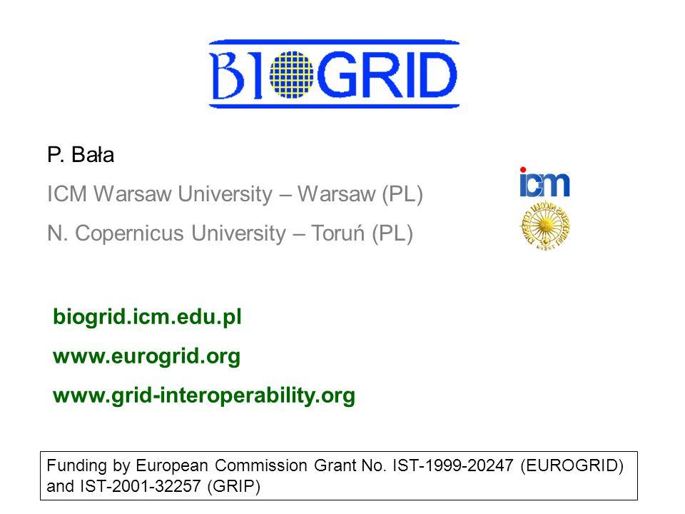  Hier klicken, um Master-Textformat zu bearbeiten.  Zweite Ebene GGF7 5/03/2003Piotr Bała40 BioGRID  Operate a GRID for biomolecular simulations 