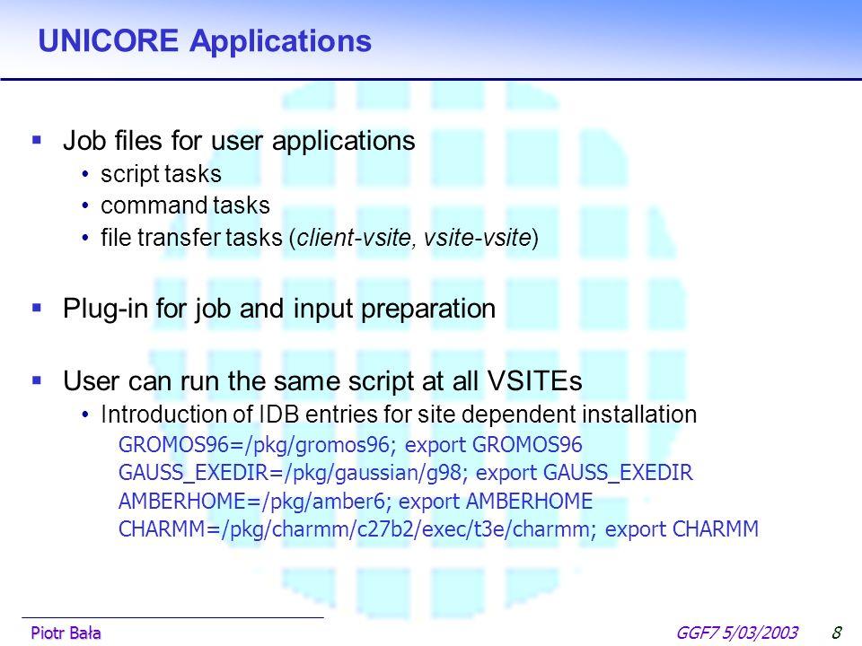  Hier klicken, um Master-Textformat zu bearbeiten.  Zweite Ebene GGF7 5/03/2003Piotr Bała7 EUROGRID resources  European HPC GRID testbed  Agreemen