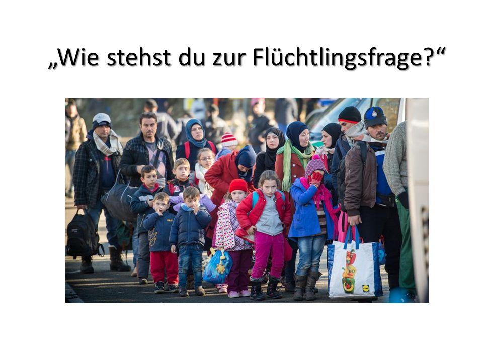 """""""Wie stehst du zur Flüchtlingsfrage"""