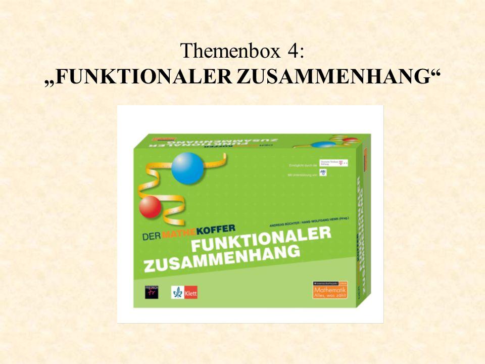 """Themenbox 4: """"FUNKTIONALER ZUSAMMENHANG"""