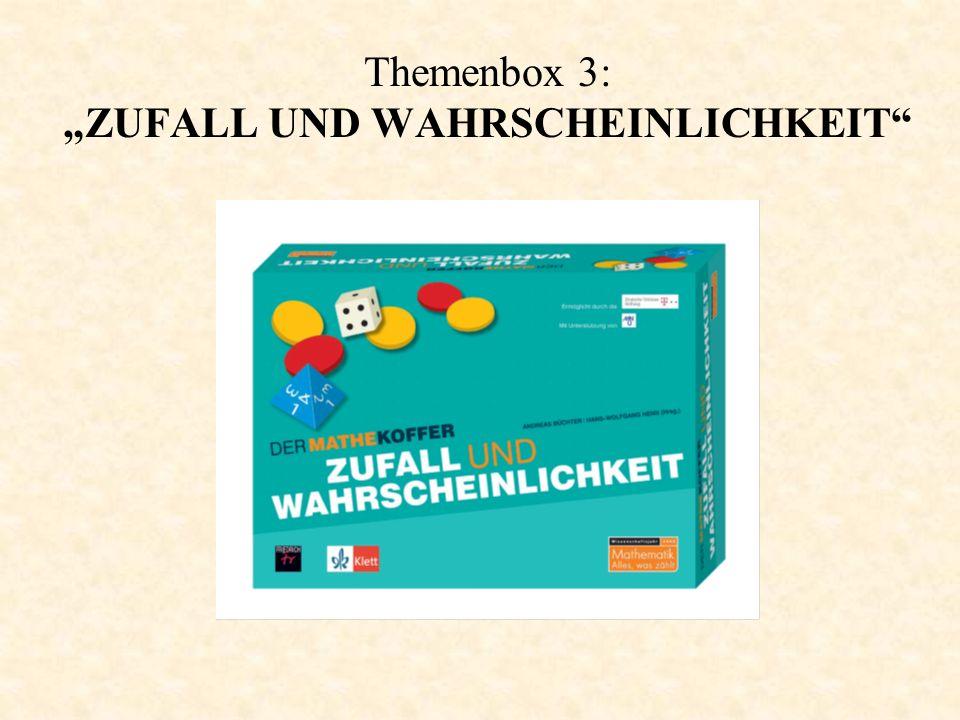"""Themenbox 3: """"ZUFALL UND WAHRSCHEINLICHKEIT"""