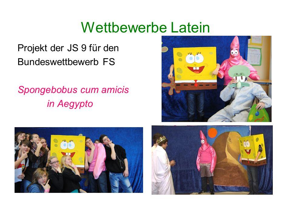 Wettbewerbe Latein Projekt der JS 9 für den Bundeswettbewerb FS Spongebobus cum amicis in Aegypto