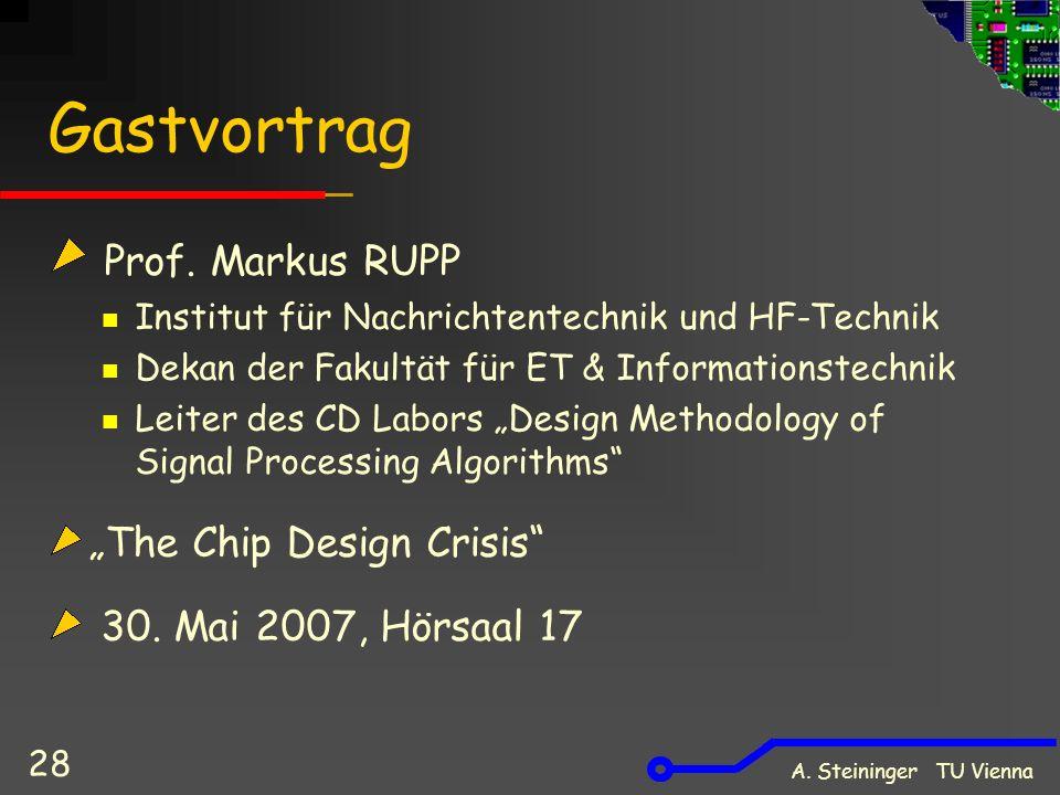 A. Steininger TU Vienna 28 Gastvortrag Prof.