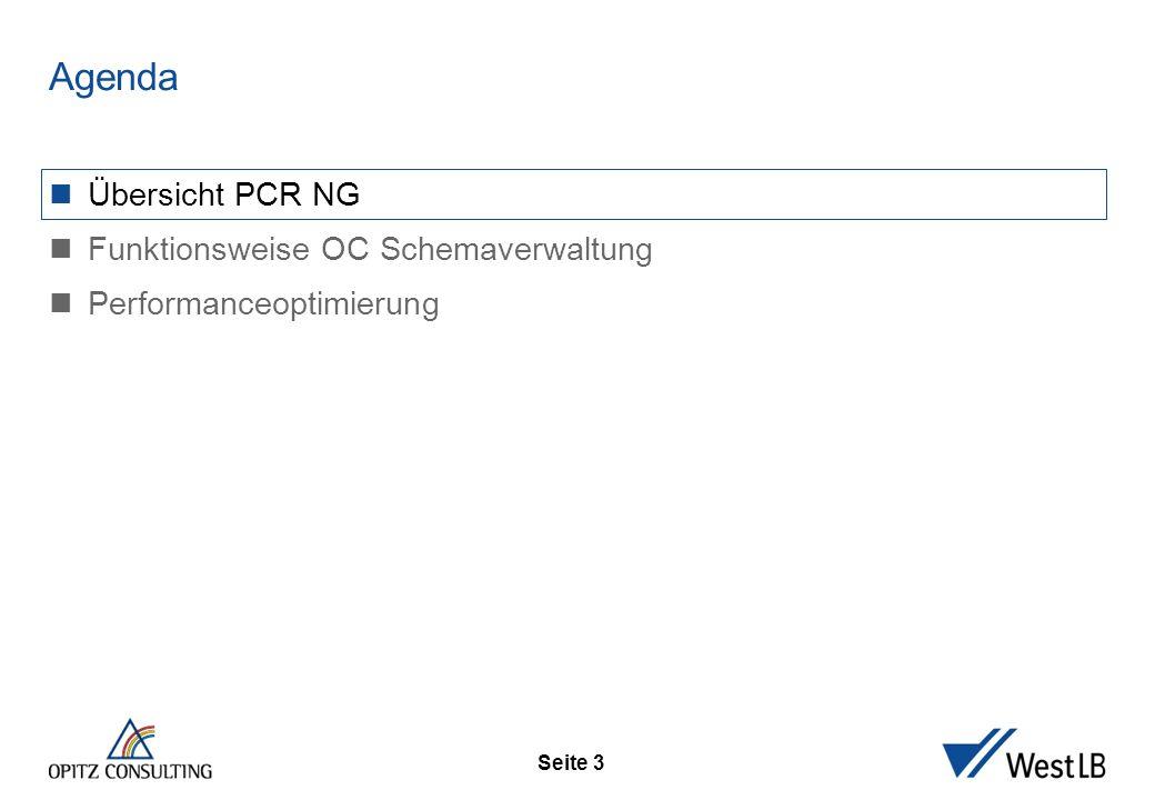 Seite 3 Übersicht PCR NG Funktionsweise OC Schemaverwaltung Performanceoptimierung Agenda