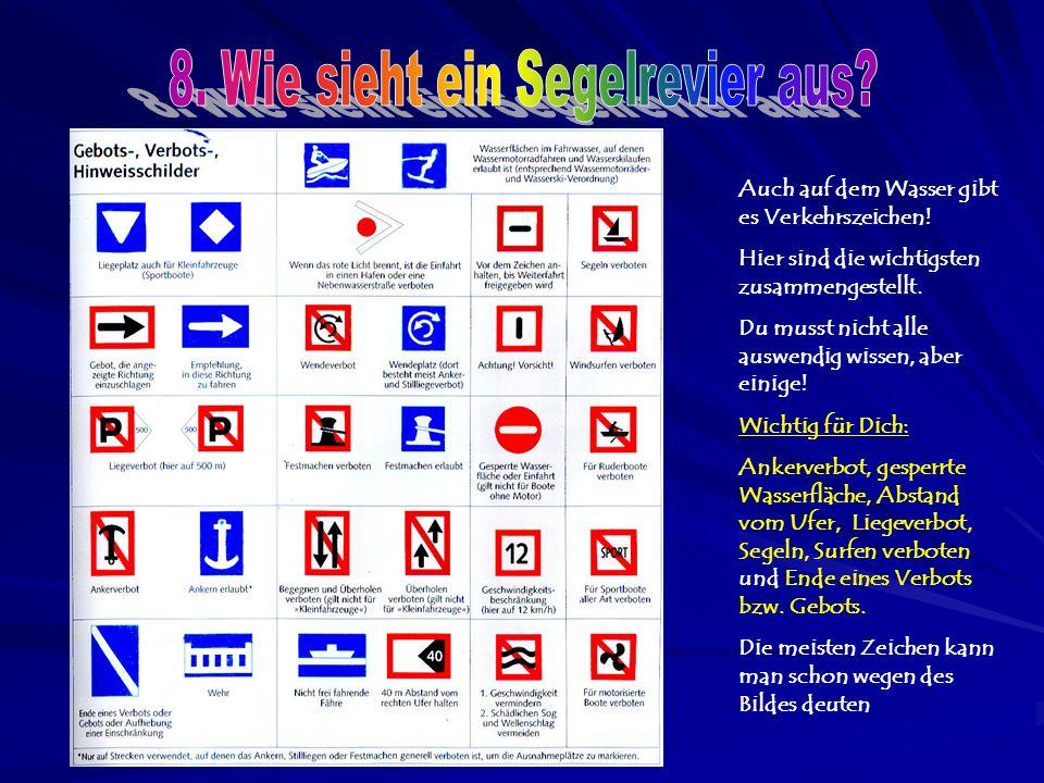Auch auf dem Wasser gibt es Verkehrszeichen. Hier sind die wichtigsten zusammengestellt.