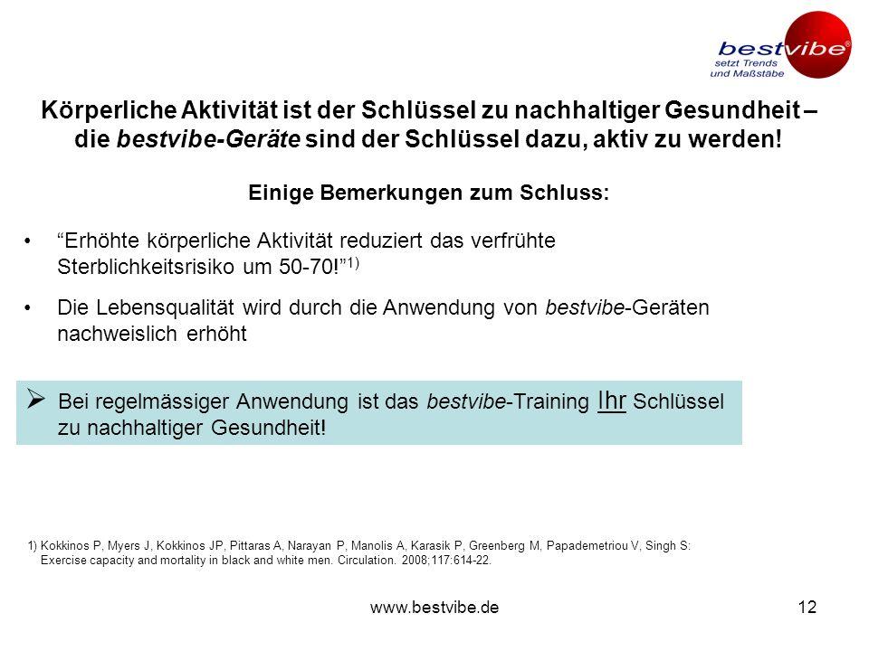www.bestvibe.de11 Der Erfolg der Vibrationstherapie hängt entscheidend von der Schwingungstechnologie, der Frequenz und der Amplitude ab Eigenschaften