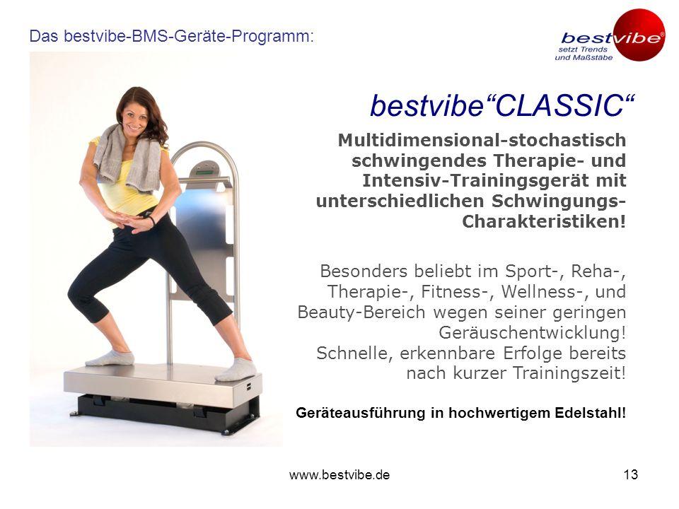 www.bestvibe.de12 Körperliche Aktivität ist der Schlüssel zu nachhaltiger Gesundheit – die bestvibe-Geräte sind der Schlüssel dazu, aktiv zu werden! E