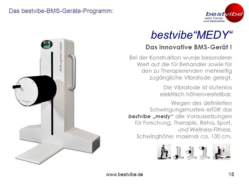 www.bestvibe.de14.....eröffnet neue Behandlungsperspektiven! Erfolge im Zeitraffer-Tempo! Steuer-Teil mit nur einem Behandlungsteil und mehreren leich
