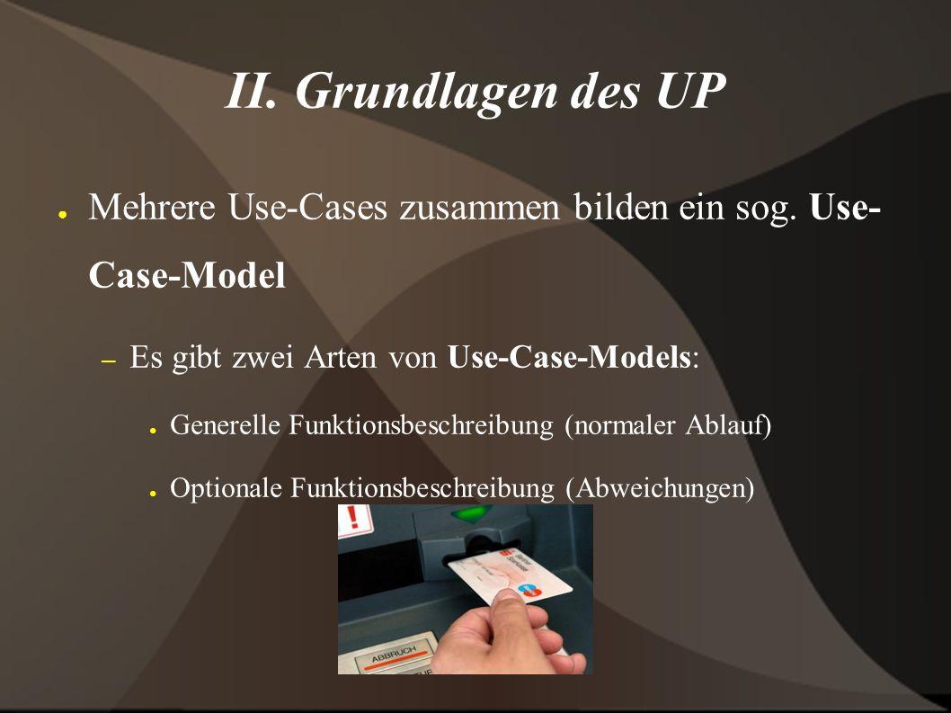 II.Architektur des UP ● Die Architektur eines UP besteht aus 3 Teilen: – 1.