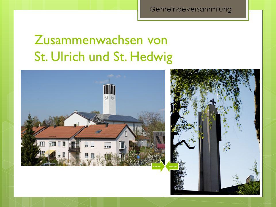 Zusammenwachsen von St. Ulrich und St. Hedwig zusammen wachse n Gemeindeversammlung