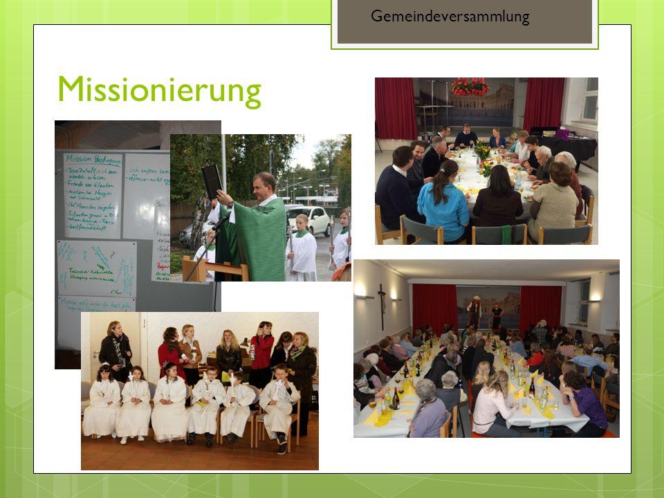 Missionierung Gemeindeversammlung
