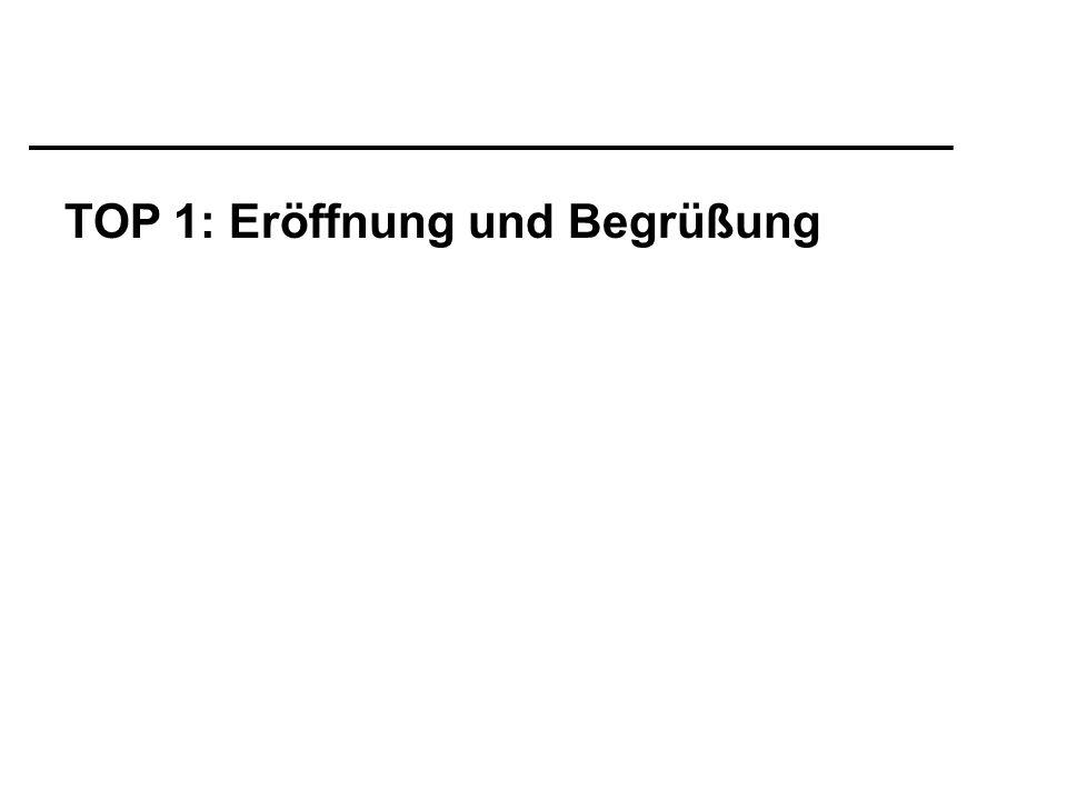 TOP 1: Eröffnung und Begrüßung