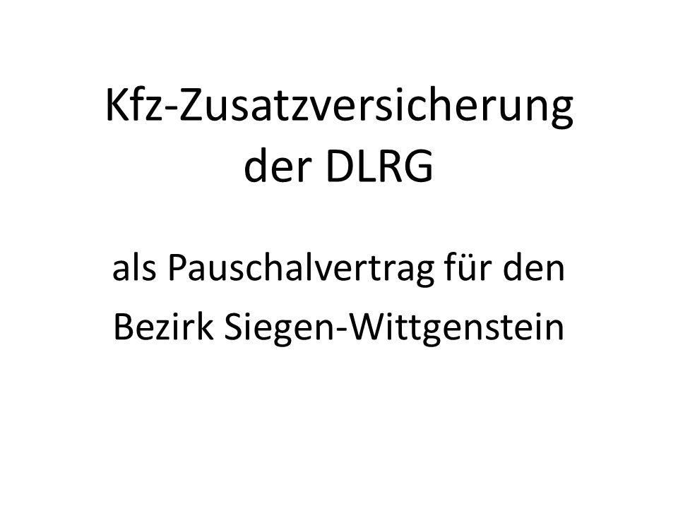 Kfz-Zusatzversicherung der DLRG als Pauschalvertrag für den Bezirk Siegen-Wittgenstein