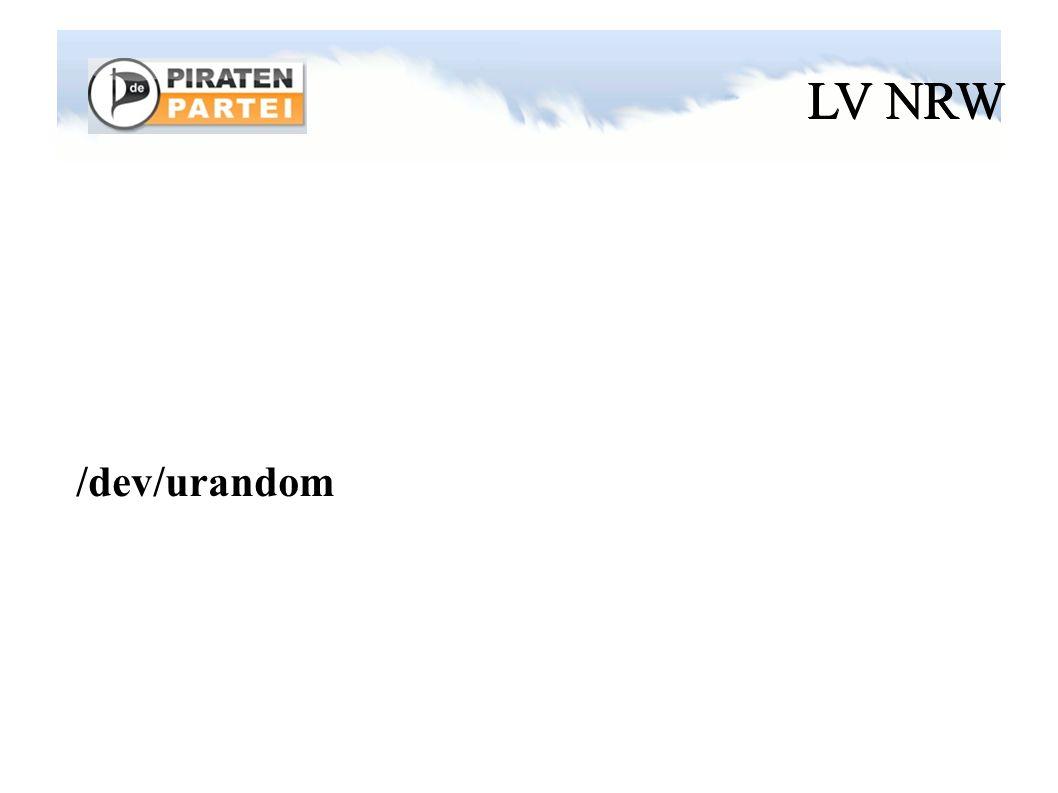 LV NRW /dev/urandom
