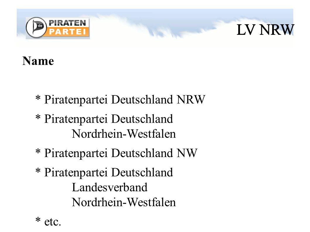 LV NRW Logo * Handout (s. Namensschild) * Vorschläge