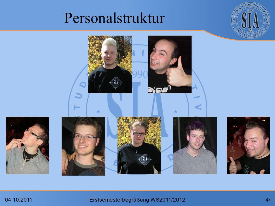 04.10.2011Erstsemesterbegrüßung WS2011/20124/4/ Personalstruktur