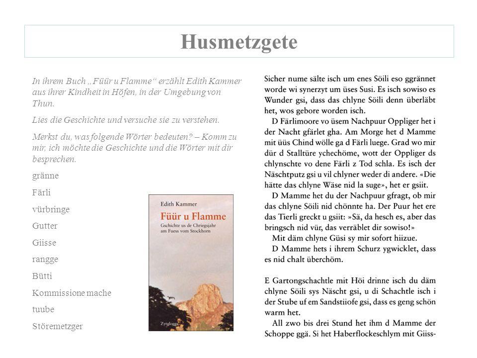 """In ihrem Buch """"Füür u Flamme erzählt Edith Kammer aus ihrer Kindheit in Höfen, in der Umgebung von Thun."""