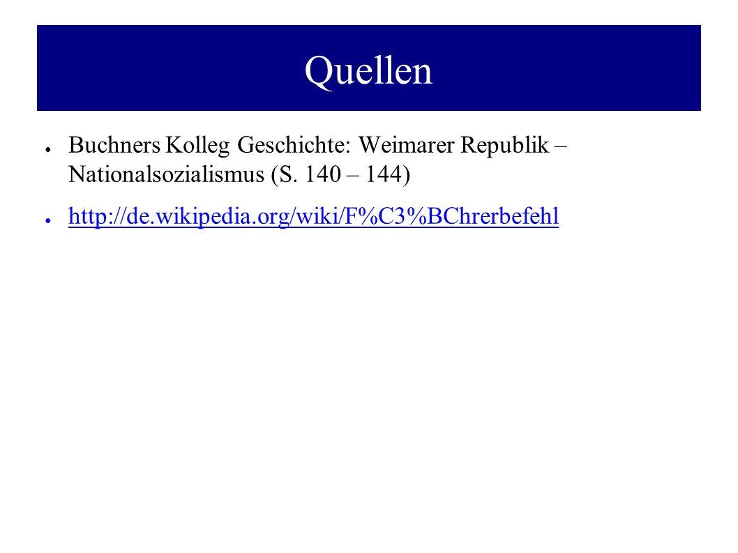 Quellen ● Buchners Kolleg Geschichte: Weimarer Republik – Nationalsozialismus (S.