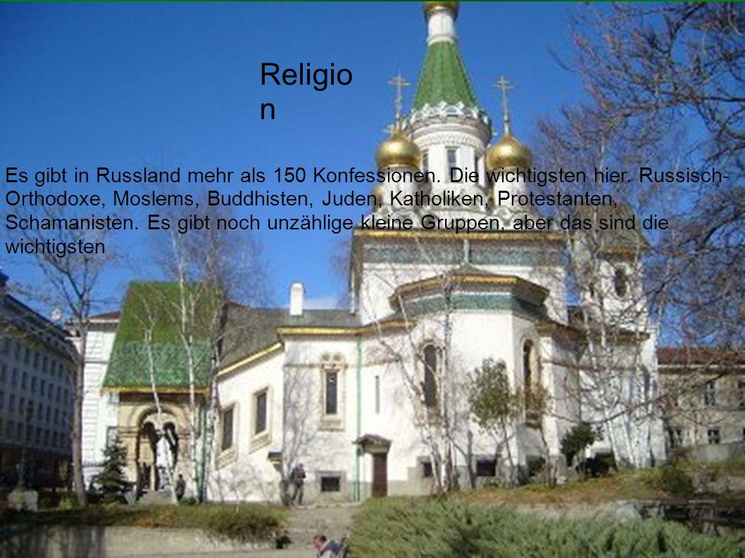 Es gibt in Russland mehr als 150 Konfessionen. Die wichtigsten hier.