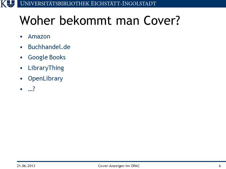 21.06.2013Cover-Anzeigen im OPAC7 http://bit.ly/11a78Ne