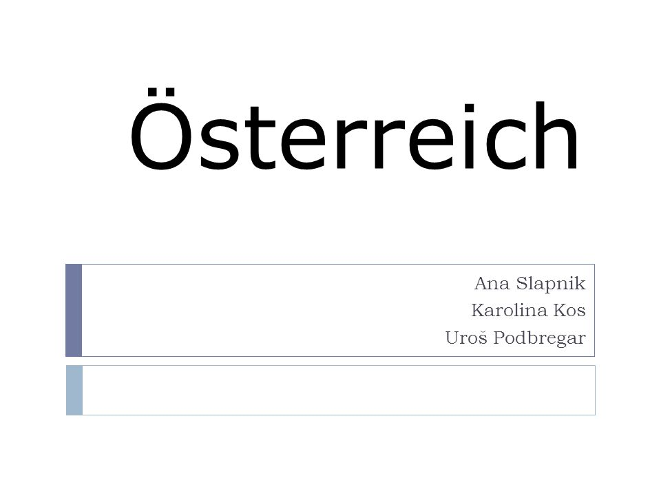 Österreich Ana Slapnik Karolina Kos Uroš Podbregar