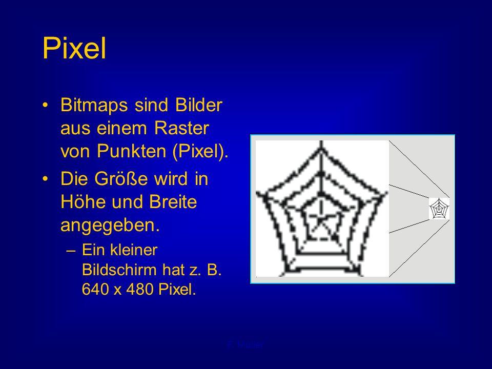 F.Müller Vektorgrafiken Jedes Bild wird durch seine Elemente beschrieben.