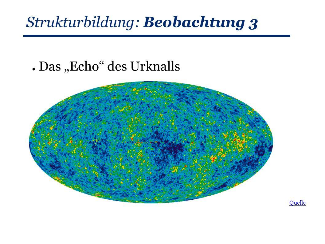 """Strukturbildung: Beobachtung 3 ● Das """"Echo des Urknalls Quelle"""