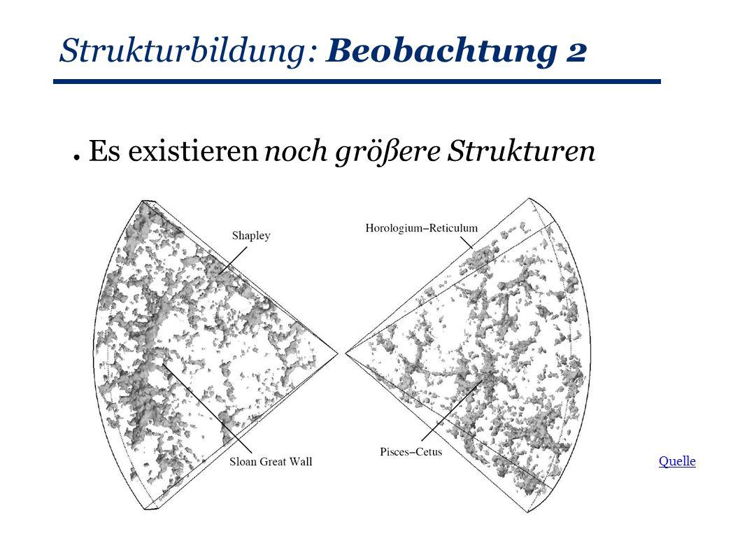 Strukturbildung: Beobachtung 2 ● Es existieren noch größere Strukturen Quelle