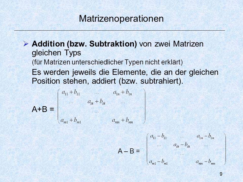 20 Stufenproduktion Problemstellung: Aus mehreren Rohstoffen werden über eine oder mehrere Zwischenproduktstufen Endprodukte gefertigt.