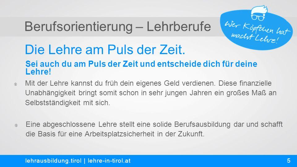 Berufsorientierung – Lehrberufe Fakten-Check – Aussagen zur Lehre lehrausbildung.tirol   lehre-in-tirol.at  Richtig oder falsch.