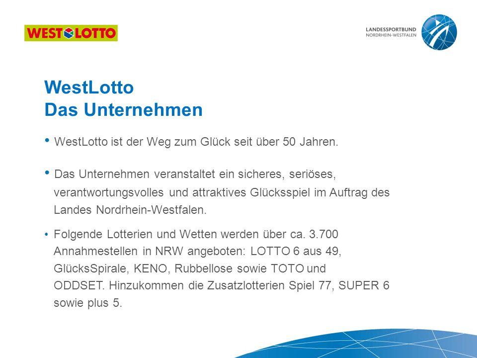 WestLotto Das Unternehmen WestLotto ist der Weg zum Glück seit über 50 Jahren.