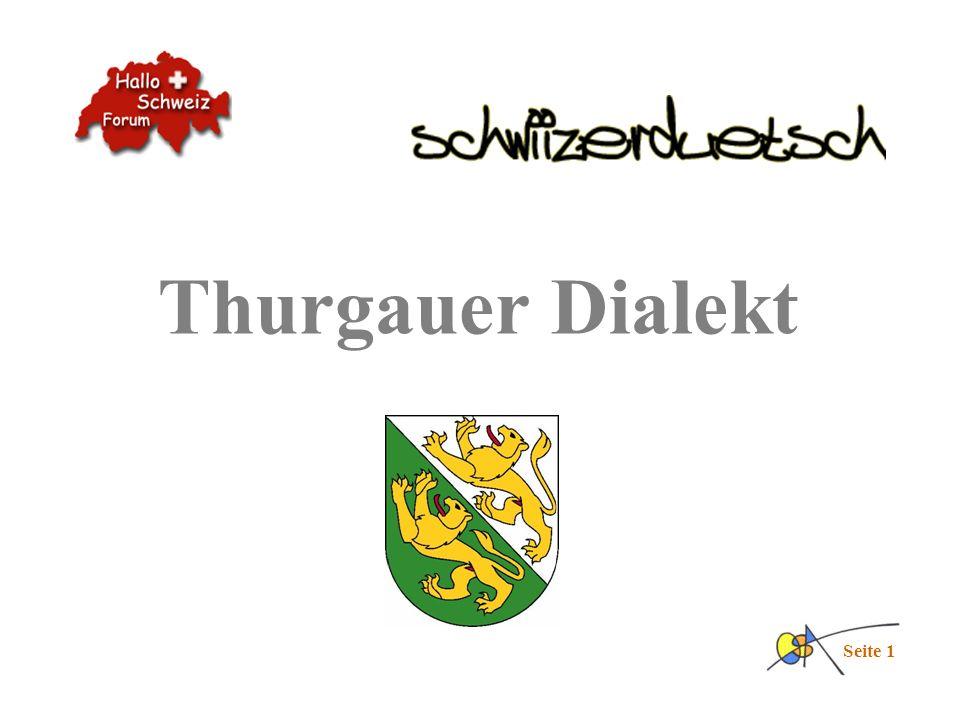 Thurgauer Dialekt Seite 1