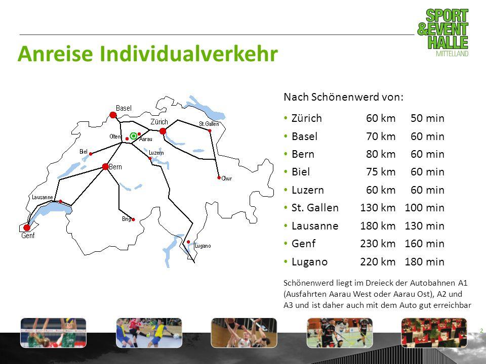 Anreise Individualverkehr Nach Schönenwerd von: Zürich60 km50 min Basel70 km60 min Bern80 km60 min Biel75 km60 min Luzern60 km60 min St. Gallen130 km1