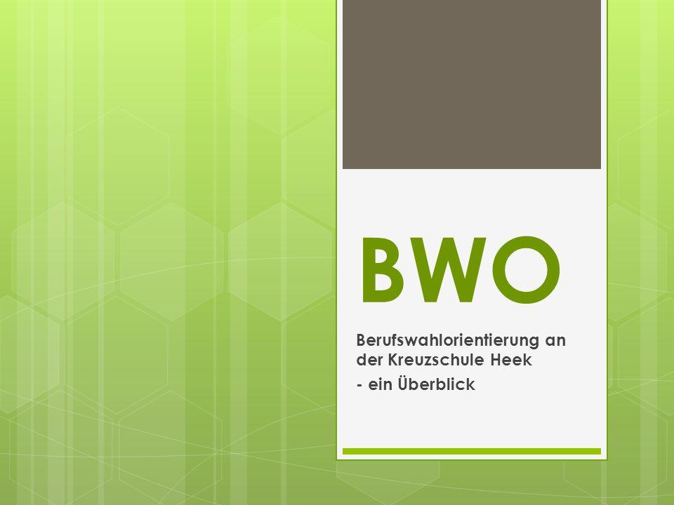 BWO Berufswahlorientierung an der Kreuzschule Heek - ein Überblick