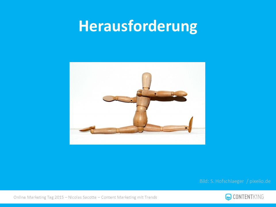 Online Marketing Tag 2015 – Nicolas Sacotte – Content Marketing mit Trends Herausforderung Bild: S.